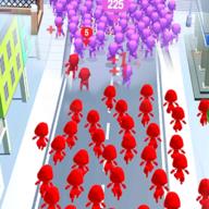 人群追随战争之城