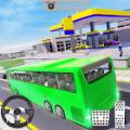 现代豪华城市旅游地铁巴士