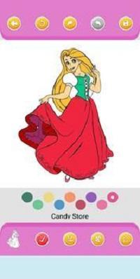 公主的绘画和色彩