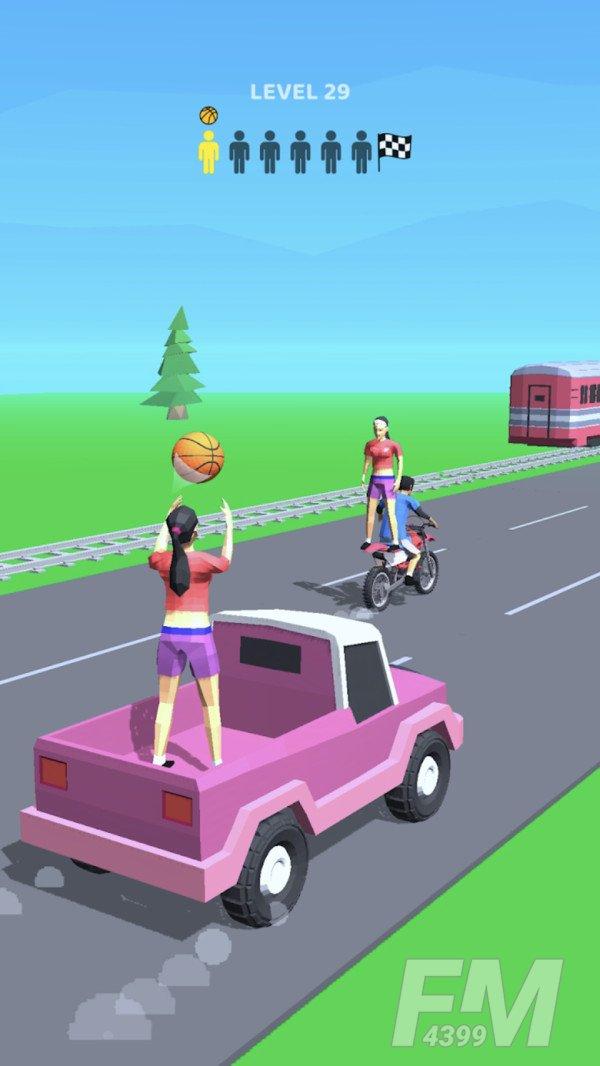 车顶玩个球
