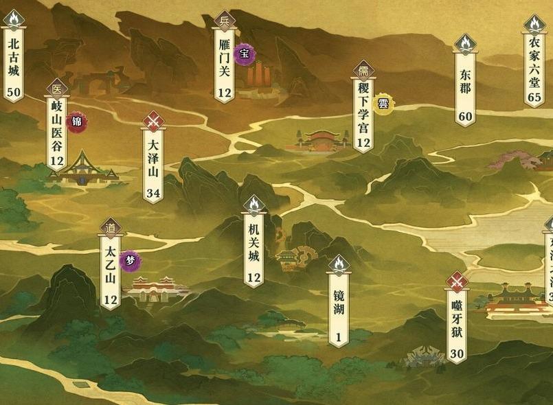 秦时明月世界谭松松位置坐标大全 谭松松位置坐标一览