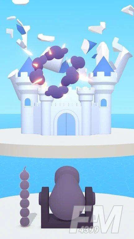 发射炸毁城堡