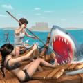 鲨鱼模拟器木筏的生存