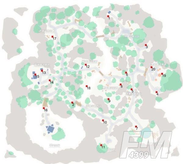 刀剑神域黑衣剑士王牌宝箱位置在哪?地图1-5层宝箱位置分布图一览图片7