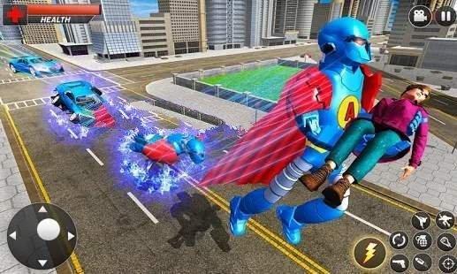 飞行英雄城市战斗截图