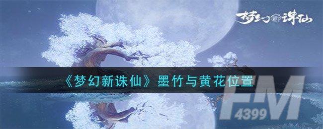 《梦幻新诛仙》墨竹与黄花位置一览