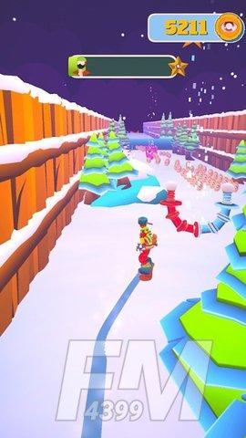 下雪滑雪板大师3D