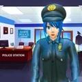 动漫女孩警察