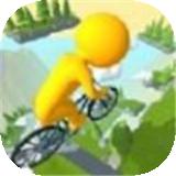 骑自行车下坡
