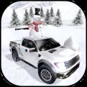 冬季雪卡车3D